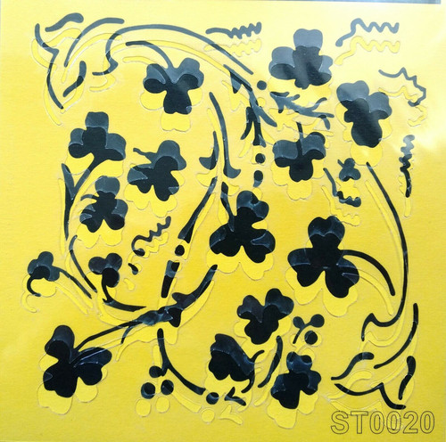Stencil 16cm x16cm , for Decoupage, Scrapbooking, Decorating , PVC free - ST0020