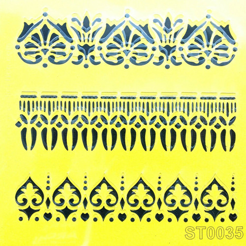 Stencil 16cm x16cm , for Decoupage, Scrapbooking, Decorating , PVC free - ST0035