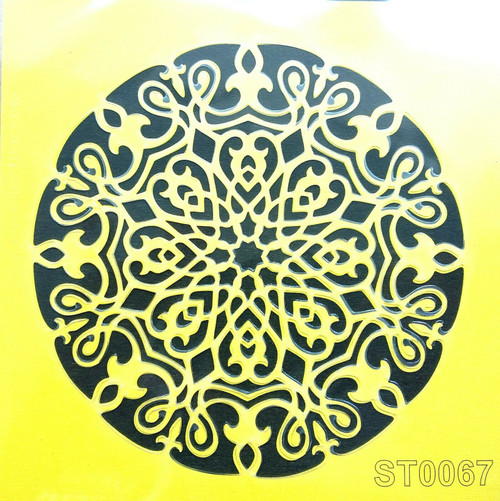 Stencil 16cm x16cm , for Decoupage, Scrapbooking, Decorating , PVC free - ST0067