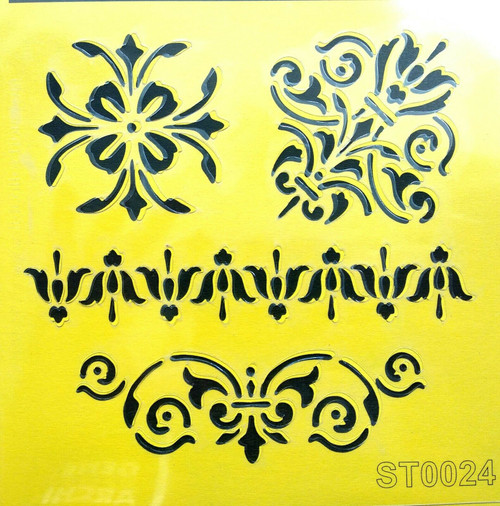 Stencil 16cm x16cm , for Decoupage, Scrapbooking, Decorating , PVC free - ST0024