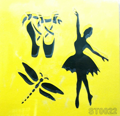 Stencil 16cm x16cm , for Decoupage, Scrapbooking, Decorating , PVC free - ST0022