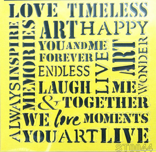 Stencil 16cm x16cm , for Decoupage, Scrapbooking, Decorating , PVC free - ST0044