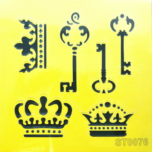 Stencil 16cm x16cm , for Decoupage, Scrapbooking, Decorating , PVC free - ST0076