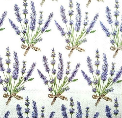 4  Vintage Paper Napkins , Lunch, Table , for Decoupage    - Lavender Summer
