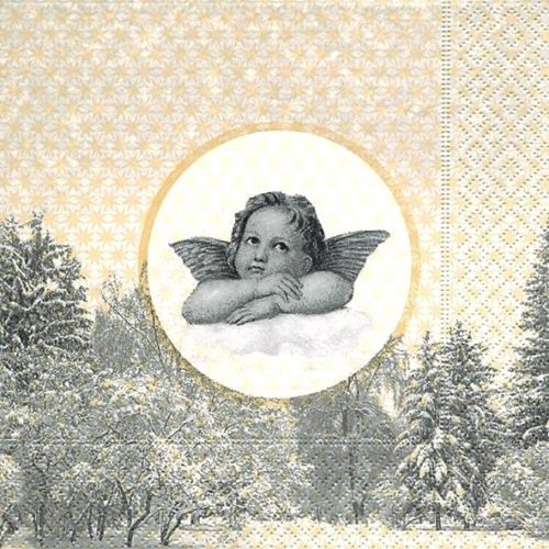 4 Lunch Paper Napkins for Decoupage Craft Vintage Napkin The famous angel