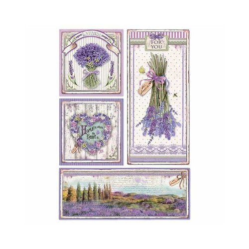 1 Sheet A4  Rice Paper for Decoupage Craft Vintage   - Lavender 3 , DFSA4364