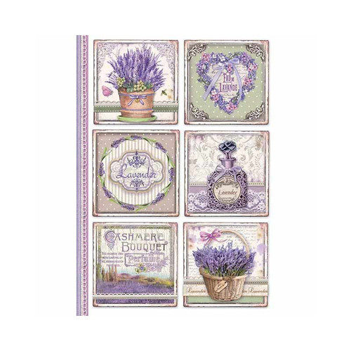 1 Sheet A4  Rice Paper for Decoupage Craft Vintage   -  Lavender 2