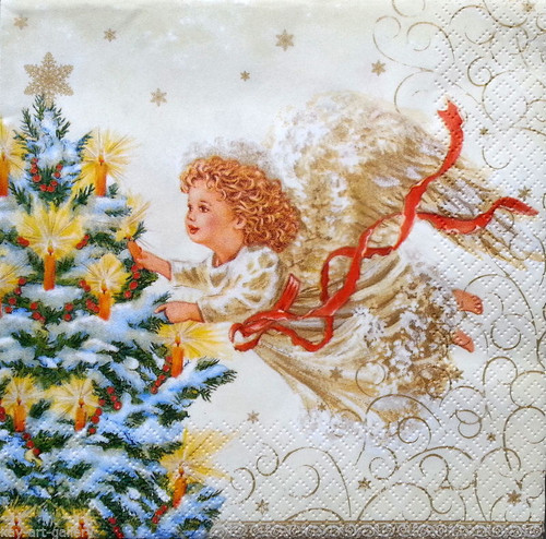 4 x Vintage Table PAPER Napkins / PARTY /CHRISTMAS DREAM