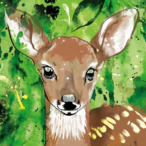 4  Vintage Paper Napkins , Lunch, Table , for Decoupage    -  Little Young Deer