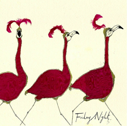 4 Lunch Paper Napkins for Decoupage Party Table Craft Vintage Funny Flamingos