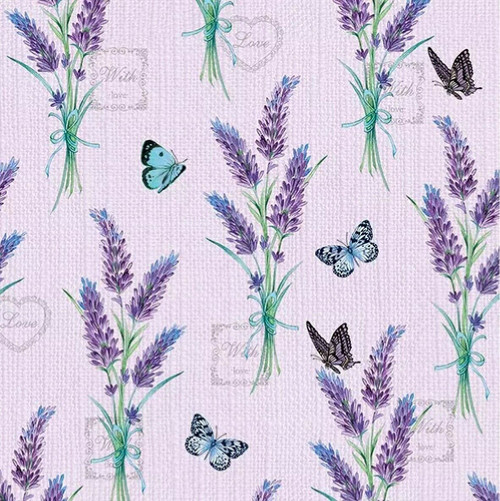 4 Lunch Paper Napkins for Decoupage Party Table Craft Vintage Purple Lavender