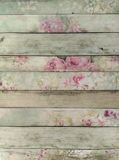 Rice Paper for Decoupage Craft Vintage, Sheet A4 - Boards , Wooden, Roses