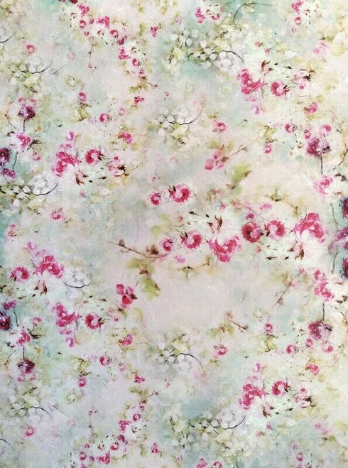 Rice Paper for Decoupage Craft Vintage, Sheet A4 - Pink Roses , Flowers