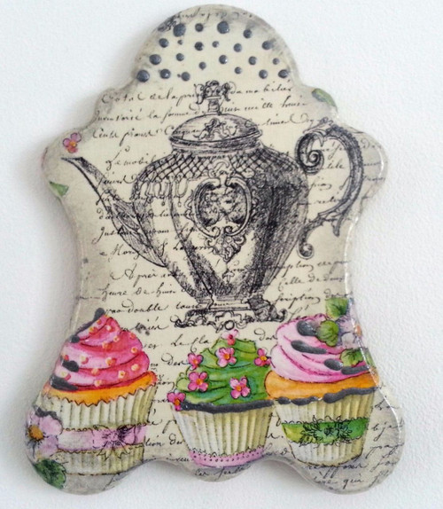 Wall Picture Plaque , Vintage Retro style Handmade Decoupage Kitchen Style