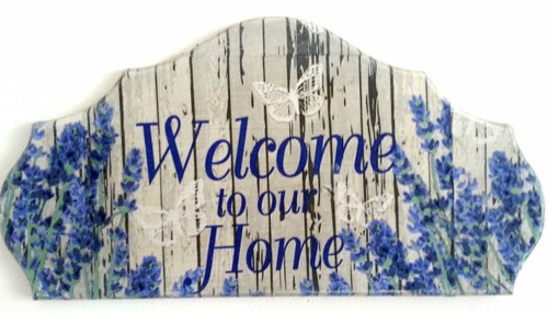 Wall Picture Plaque , Vintage Retro style Handmade Welcome to our Home