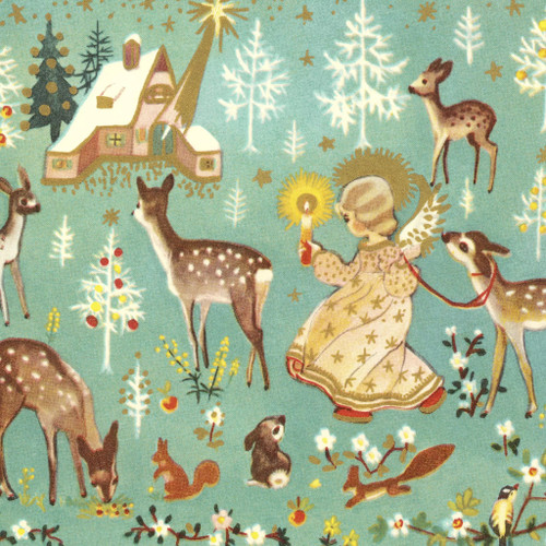 4 Lunch Paper Napkins for Decoupage Party Table Craft Vintage Forest Fairy, Christmas