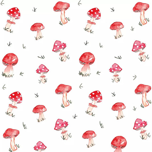 4 Lunch Paper Napkins for Decoupage Party Table Craft Vintage - Pilze, Toadstools