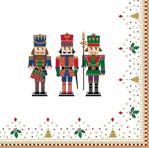 4 Lunch Paper Napkins for Decoupage Party Table Craft Vintage Nutcrackers