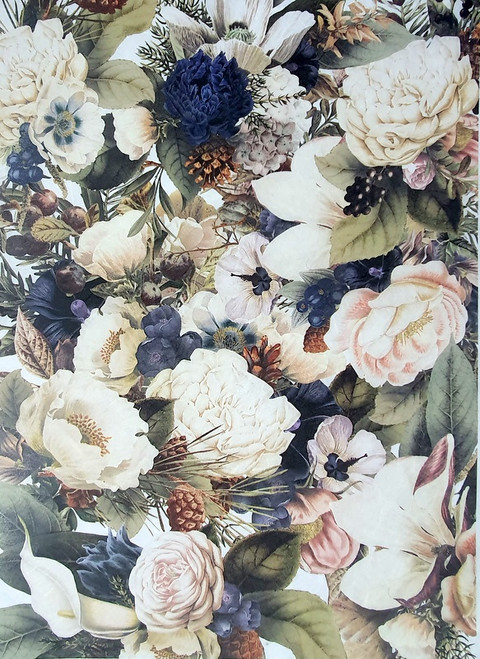 Rice Paper for Decoupage Craft Vintage, Sheet A4, Castle Roses 2