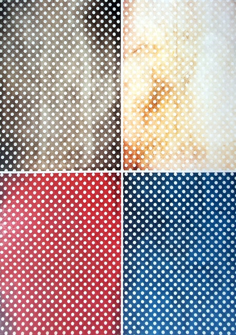 Rice Paper for Decoupage Craft Vintage, Sheet A4, Ornaments, Dots