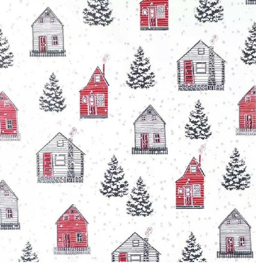 4 Lunch Paper Napkins for Decoupage Party Table Craft Vintage, Red House, Red Hus