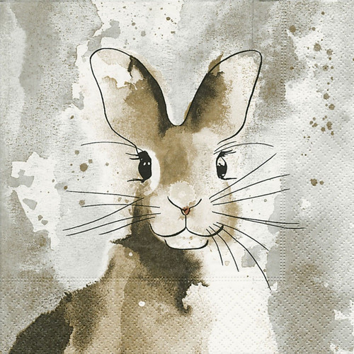 Lunch Paper Napkins for Decoupage Party Table Craft Vintage Happy Rabbit
