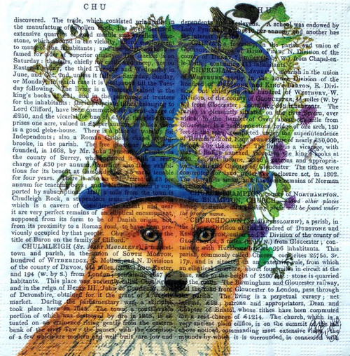 4 Lunch Paper Napkins for Decoupage Party Table Craft Vintage Floral Fox