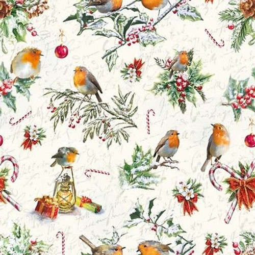 4 Lunch Paper Napkins for Decoupage Craft Vintage Napkin Christmas Collage 3