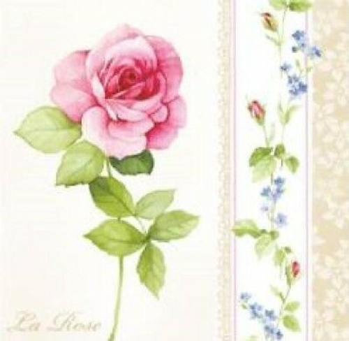 4 Vintage Paper Napkins , Lunch, Table , for Decoupage  - Lovely Roses , Flowers