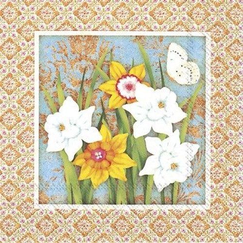 4 Vintage Paper Napkins , Lunch, Table , for Decoupage  - Pretty Spring Flowers