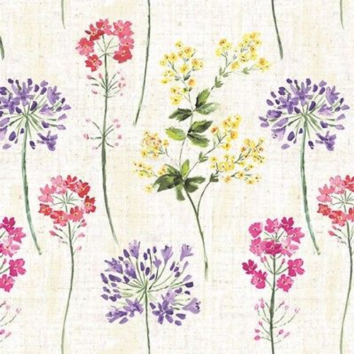 4 Vintage Paper Napkins , Lunch, Table , for Decoupage  -  Meadow Beauty Mix, Flowers