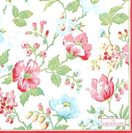 4 Vintage Paper Napkins , Lunch, Table , for Decoupage  - Donna Flowers