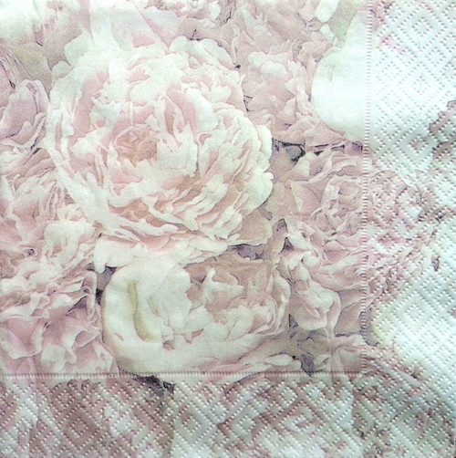 4 Vintage Paper Napkins , Lunch, Table , for Decoupage   - Peony Sagen,Flowers