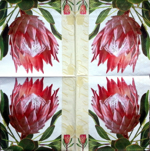 4  Lunch Paper Napkins - Royal Flower,  Flowers