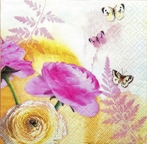 4 x Lunch Paper Napkins for Decoupage  - Beauty Bunch, Flowers