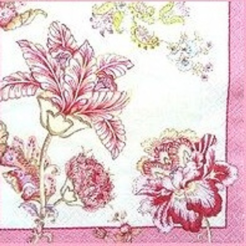 4  Single Vintage Table Paper Napkins, for Decoupage - Magic Garden Flo, Flowers