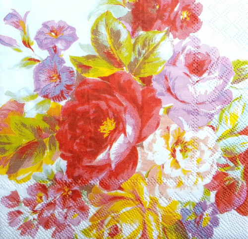4 Vintage Paper Napkins for Decoupage  -Beautiful Rose, Garden , Flowers
