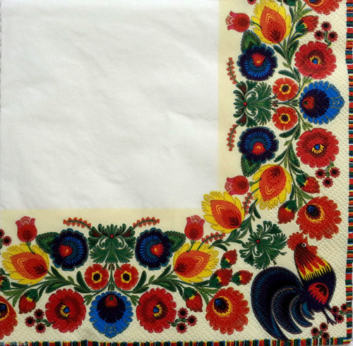 4  Vintage Paper Napkins , Lunch, Table , for Decoupage   -Happy Cook, Flowers