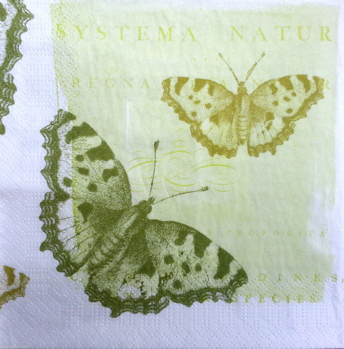 4  Vintage Paper Napkins , Lunch, Table , for Decoupage   - Royal Butterflies