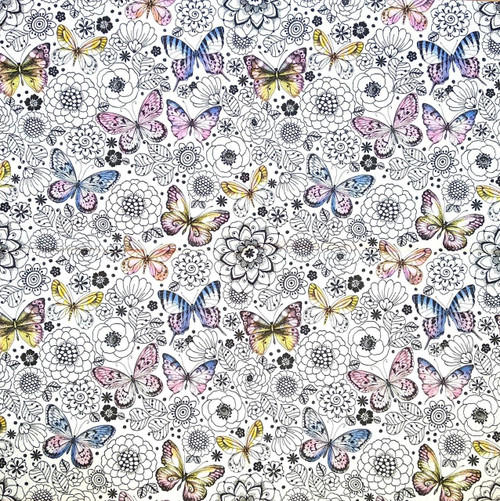4 Single Lunch Paper Napkins - Harmony Butterflies