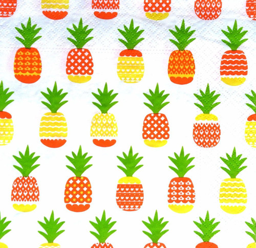 4 Lunch Paper Napkins for Decoupage  - Pineapples World