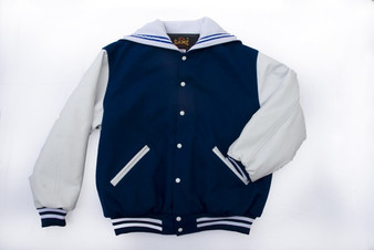 LADIES FOUNTAIN FORT CARSON LETTER JACKET FRONT VIEW