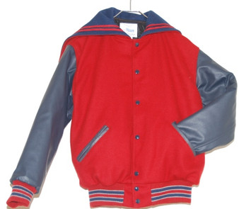 LADIES LIBERTY HIGH SCHOOL LETTER JACKET FRONT VIEW