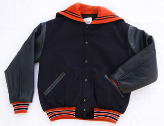 LADIES MITCHELL HIGH SCHOOL LETTER JACKET FRONT VIEW