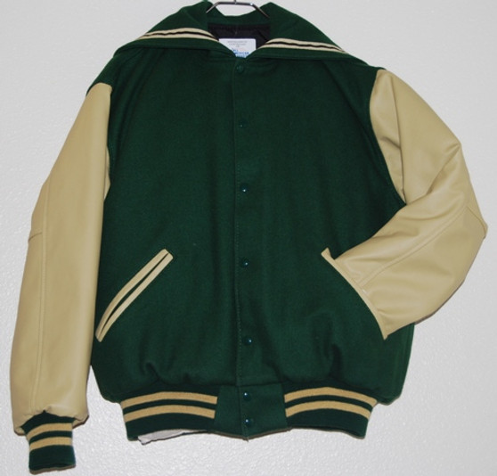 LADIES FALCON HIGH SCHOOL LETTER JACKET FRONT VIEW
