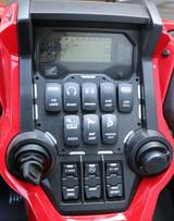 ModQuad Racing Honda Talon 1000X/R Switch Plate Panel Black 8 Slot 379962