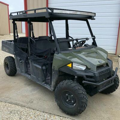 Texas Outdoors Ranch Armor Metal Top, Polaris Ranger Pro-Fit Mid-Size Crew PR101