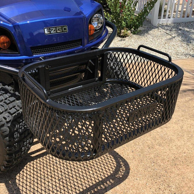 Texas Outdoors Ranch Armor Aluminum Front Cargo and Storage Basket, EZ GO Golf Cart EB11