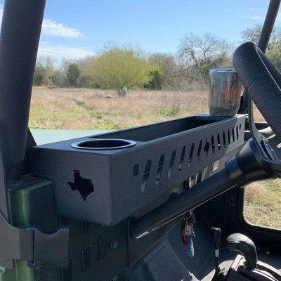 Texas Outdoors Ranch Armor Front Dash Basket, Mahindra Roxor RX-FRNT-CP-HLDR