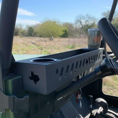 Texas Outdoors Ranch Armor Front Dash Basket, Mahindra Roxor RX-FRNT-CP-HLDR
